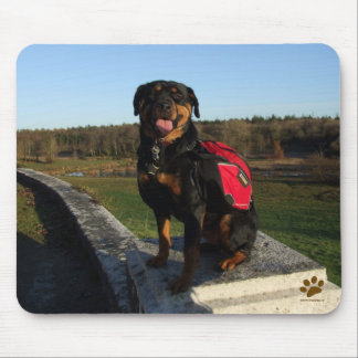 Rottweiler Backpacking Mouse Mat