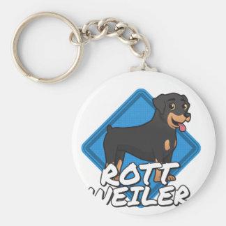 Rottweiler Basic Round Button Key Ring