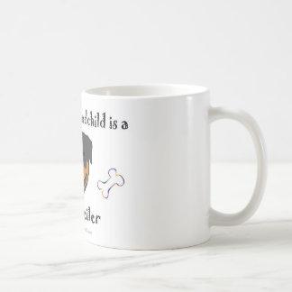rottweiler basic white mug