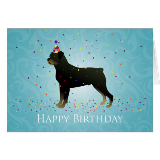 Rottweiler Birthday Design Card