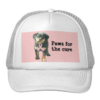 Rottweiler Breast Cancer Hat