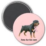 Rottweiler  Breast Cancer Magnet