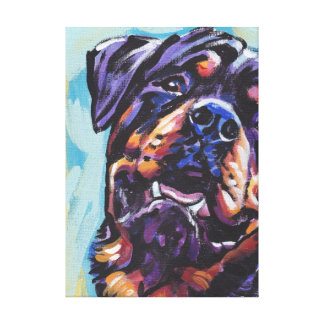 Rottweiler Bright Colorful Pop Dog Art Canvas Print