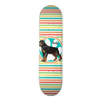 Rottweiler; Bright Rainbow Stripes Skate Boards