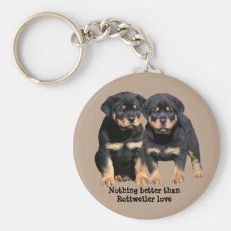 Rottweiler Buddies Keychain