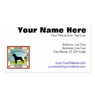 Rottweiler Double-Sided Standard Business Cards (Pack Of 100)