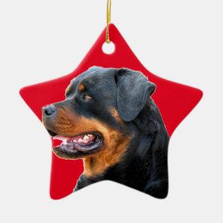 Rottweiler Ceramic Star Decoration
