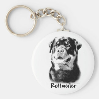 Rottweiler Charcoal Keychain