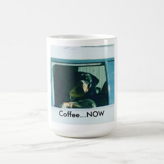 "Rottweiler ""Coffee NOW"" mug"