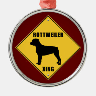Rottweiler Crossing (XING) Sign Christmas Ornament
