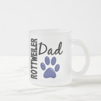 Rottweiler Dad 2 Frosted Glass Mug