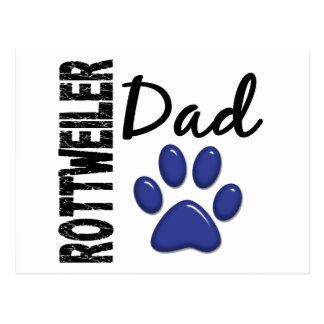 Rottweiler Dad 2 Postcard
