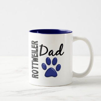 Rottweiler Dad 2 Two-Tone Coffee Mug