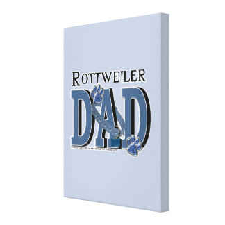 Rottweiler DAD Gallery Wrapped Canvas