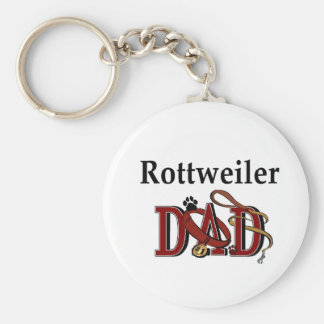 Rottweiler Dad Gifts Key Ring
