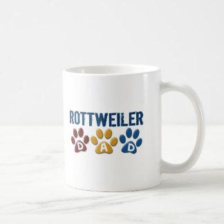 ROTTWEILER Dad Paw Print 1 Basic White Mug