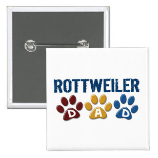 ROTTWEILER Dad Paw Print 1 Buttons