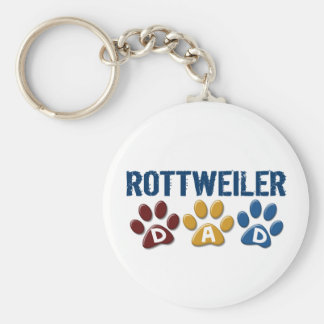 ROTTWEILER Dad Paw Print 1 Keychains