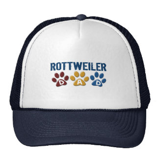 ROTTWEILER Dad Paw Print 1 Mesh Hats
