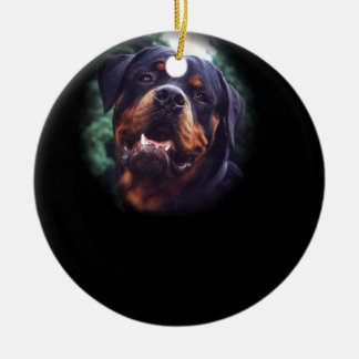Rottweiler Design Christmas Ornament