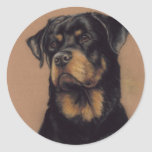 """Rottweiler"" Dog Art Sticker"