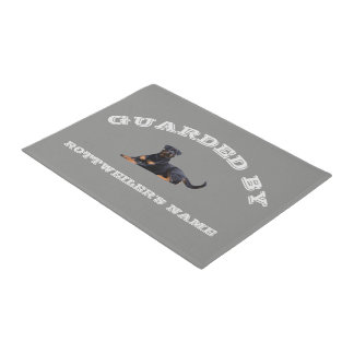 Rottweiler Dog Breed House Protection Custom Name Doormat
