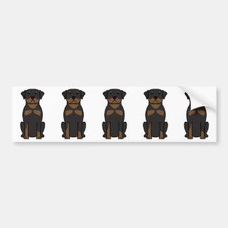 Rottweiler Dog Cartoon Bumper Sticker