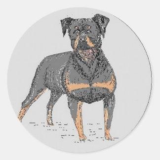 Rottweiler Dog Classic Round Sticker
