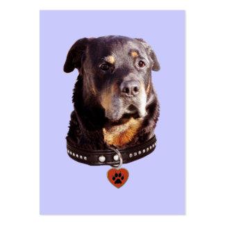 Rottweiler Dog Heart Pawprint Business Card Templates