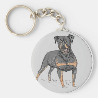 Rottweiler Dog Key Ring