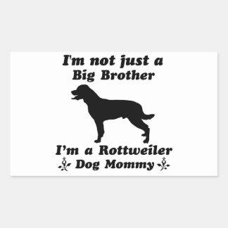 rottweiler dog mommy rectangle sticker