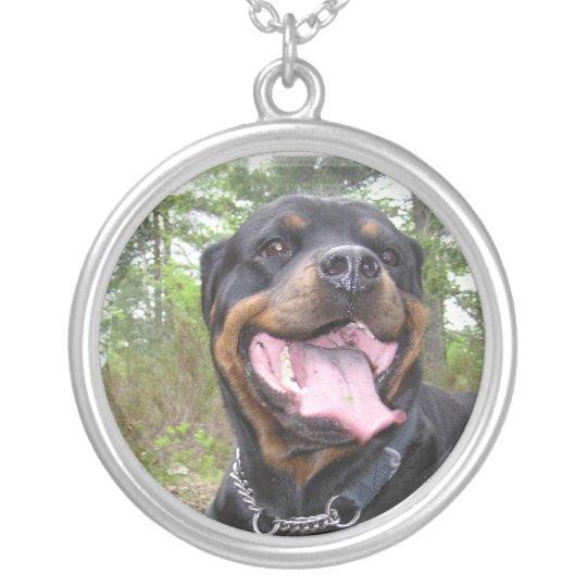 Rottweiler Dog Neckalce Silver Plated Necklace