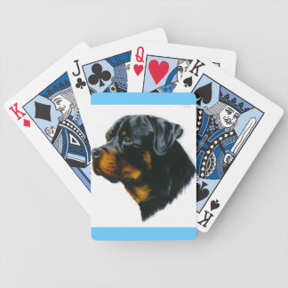 rottweiler dog card decks