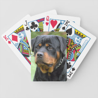 Rottweiler Dog Playing Cards