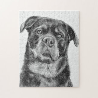 Rottweiler Drawing Jigsaw Puzzle