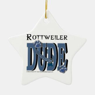 Rottweiler DUDE Christmas Ornament