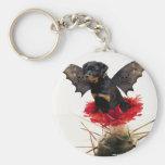 Rottweiler Fairy Dog Keychain