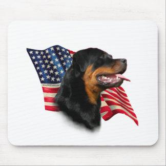 Rottweiler Flag Mouse Mat