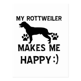 Rottweiler gift items postcard