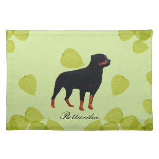 Rottweiler ~ Green Leaves Design Placemat