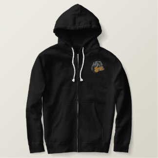 Rottweiler Head Embroidered Hoody