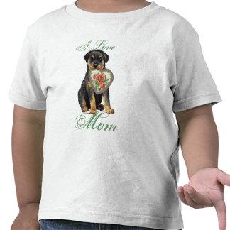 Rottweiler Heart Mom Tee Shirt