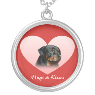 Rottweiler Heart Necklace