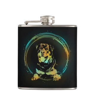 Rottweiler Hip Flask