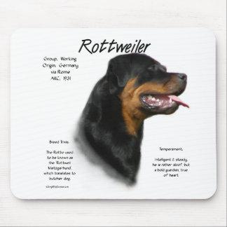 Rottweiler History Design Mouse Mat