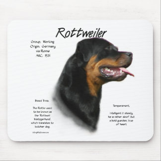 Rottweiler History Design Mouse Pad
