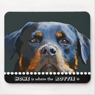 Rottweiler Home Is Where the Rottie Is Dog Quote Mouse Mat
