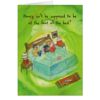 Rottweiler in Bed - Funny Birthday Greeting Card