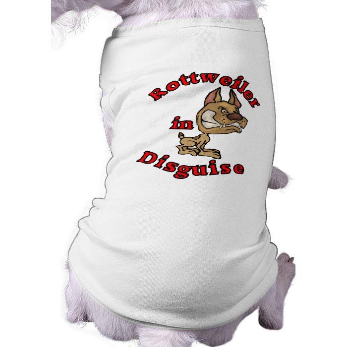 Rottweiler in Disguise Sleeveless Dog Shirt