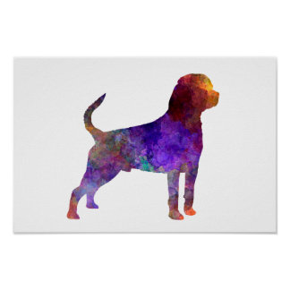 Rottweiler in watercolor poster